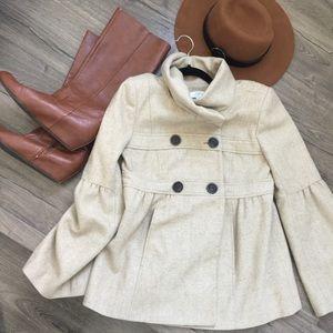 Ann Taylor LOFT tweed pea coat
